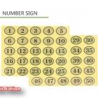 Number Sticker