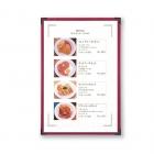 restaurant clear menu covers