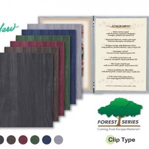 Wood Pattern MENU BOOK COVERS