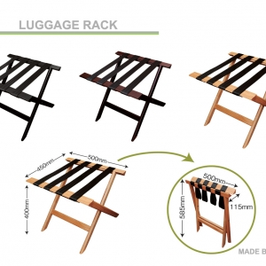 Hotel Luggage Rack