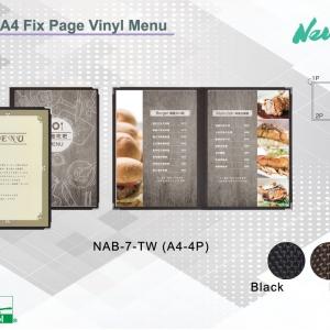 A4 Clear Vinyl menu
