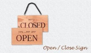 Open Close Door Sign