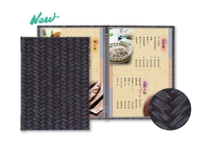Weave Pattern Menu Covers