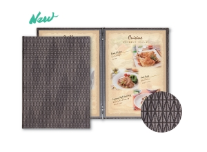 Diamond Pattern Menu Cover