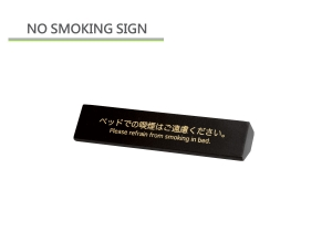 Non Smoking table sign