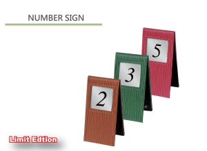table sign, NUMBER