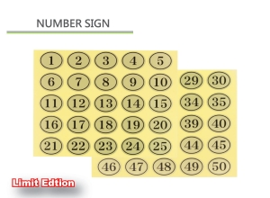 Number Sticker