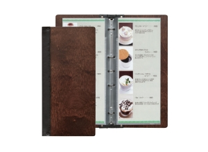 wooden slimline menu cover