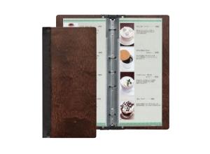 wooden slimline menu cover
