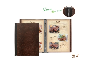 b4 WOODEN MENU BOOK COVER