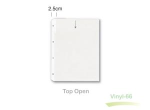 Clear A4 heavy-duty vinyl sleeve.