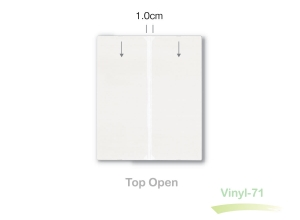 slimline clear vinyl sleeve