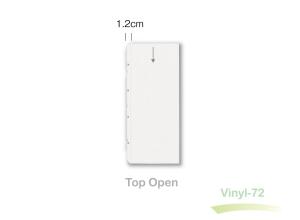 Clear slimline heavy-duty vinyl sleeve.