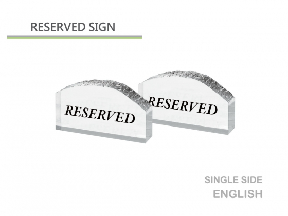 Reservation table sign